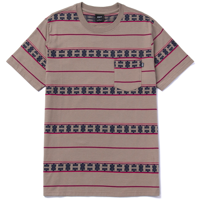 HUF Palisades Stripe Knit Top Walnut