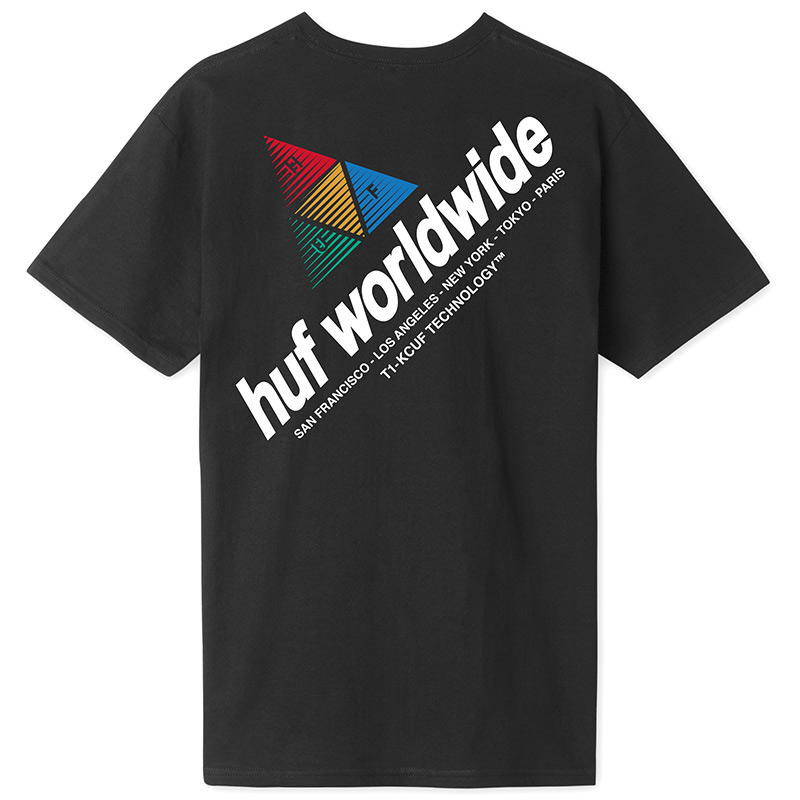 HUF Peak Sportif T-Shirt Black