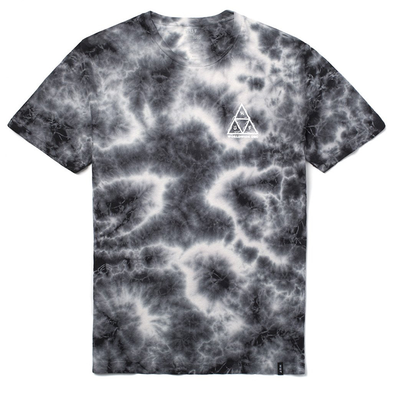HUF Pigpen Triple Trangle T-shirt Black Crystal Wash