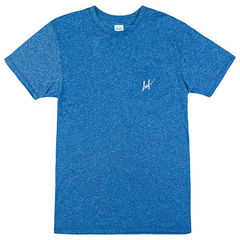 HUF Premium Script Heather Pocket T-Shirt Denim