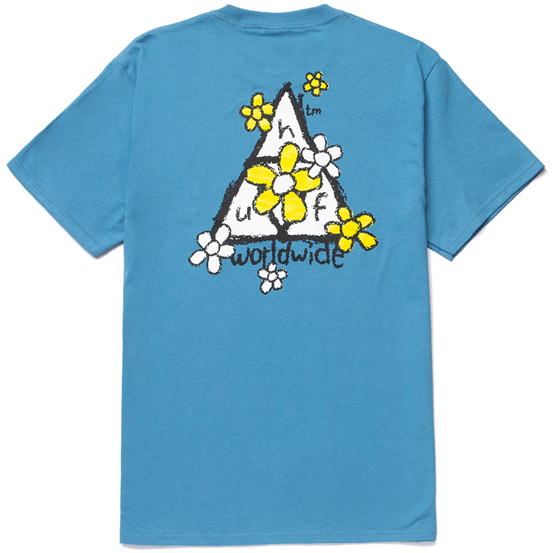 HUF Pushing Daisies Tt T-Shirt Columbia Blue