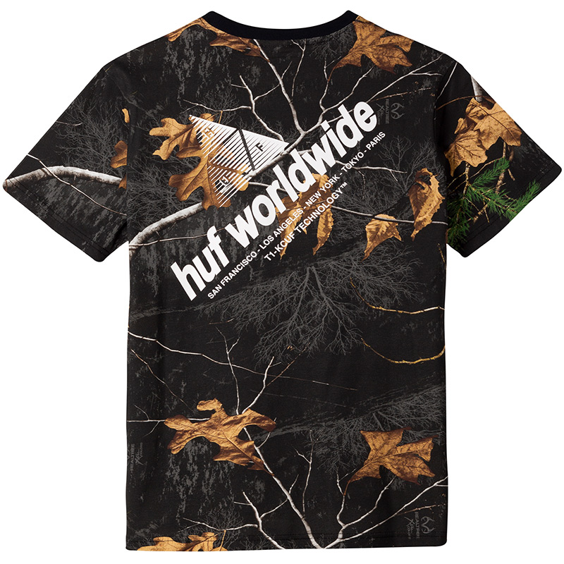 HUF Realtree Peak Logo T-Shirt Realtree Black