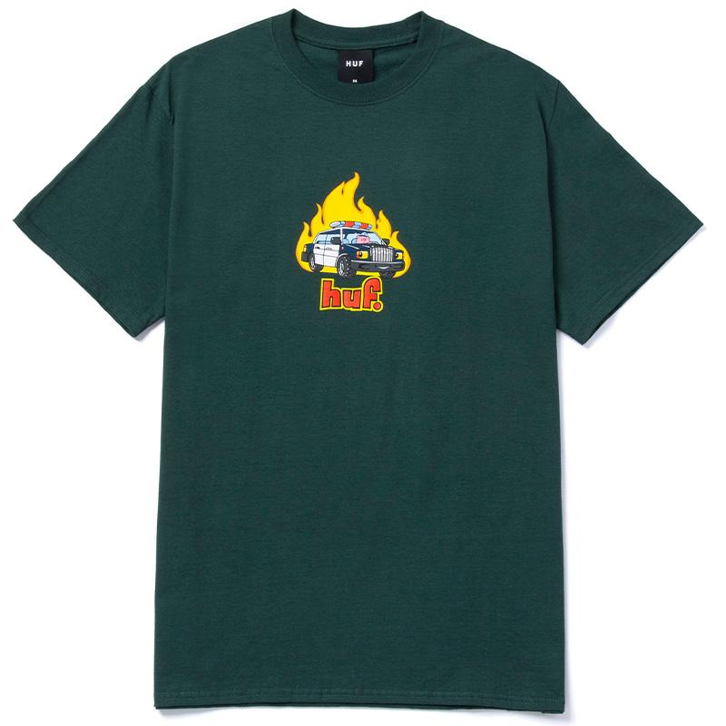 HUF Roasted T-Shirt Dark Green