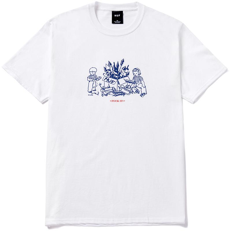 HUF Safe And Sane T-Shirt White