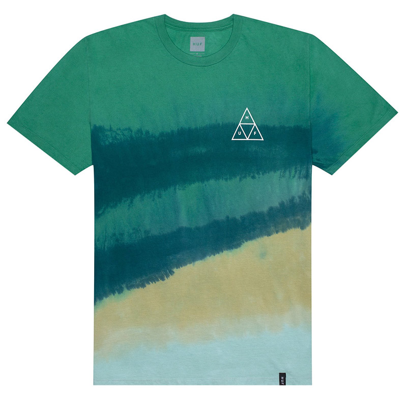 HUF Sky Wash T-Shirt Quetzal Green