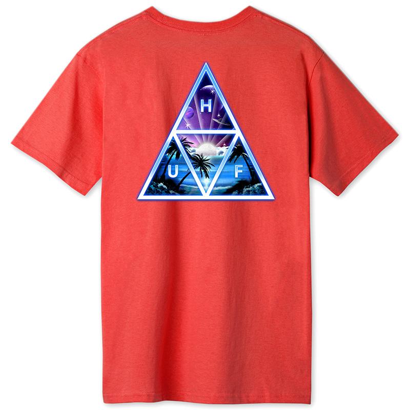 HUF Space Beach TT T-Shirt Cayenne