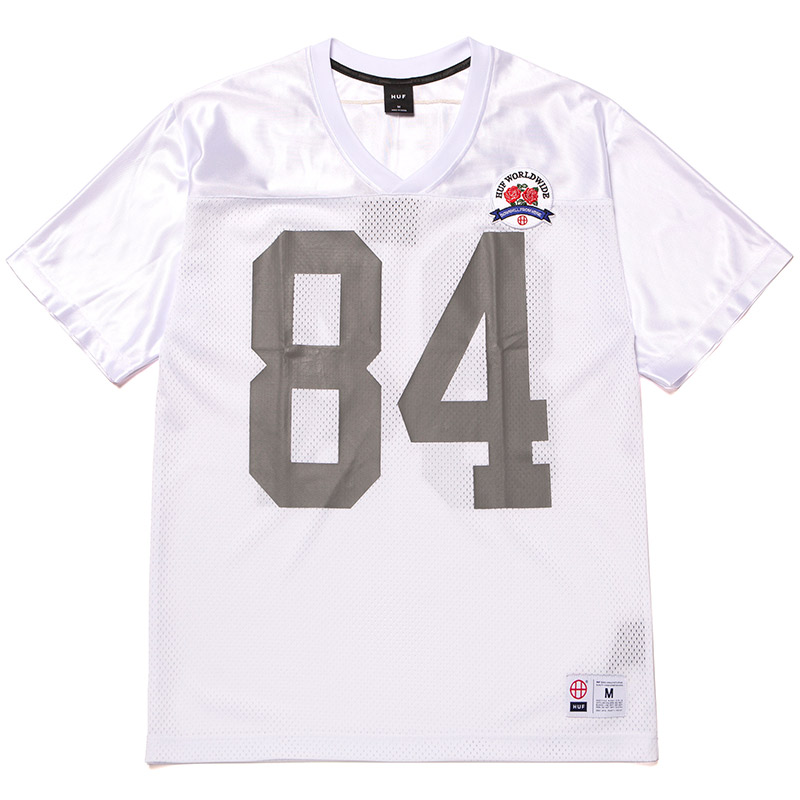 HUF Top Rank Football Jersey White