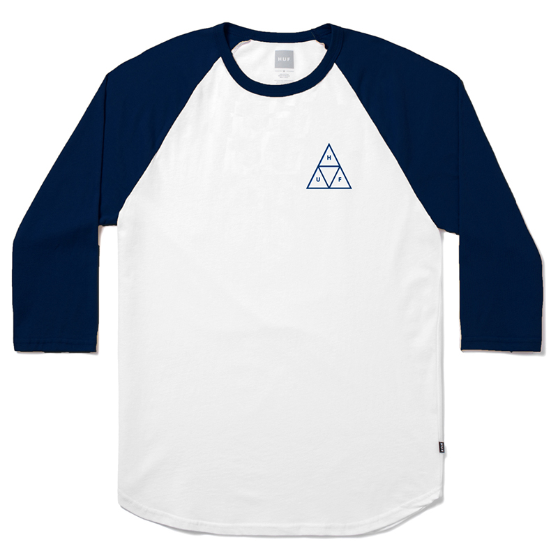 HUF Triple Triangle Raglan T-shirt White/Navy