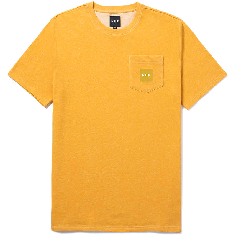 HUF Woven Label Pocket T-Shirt Gold