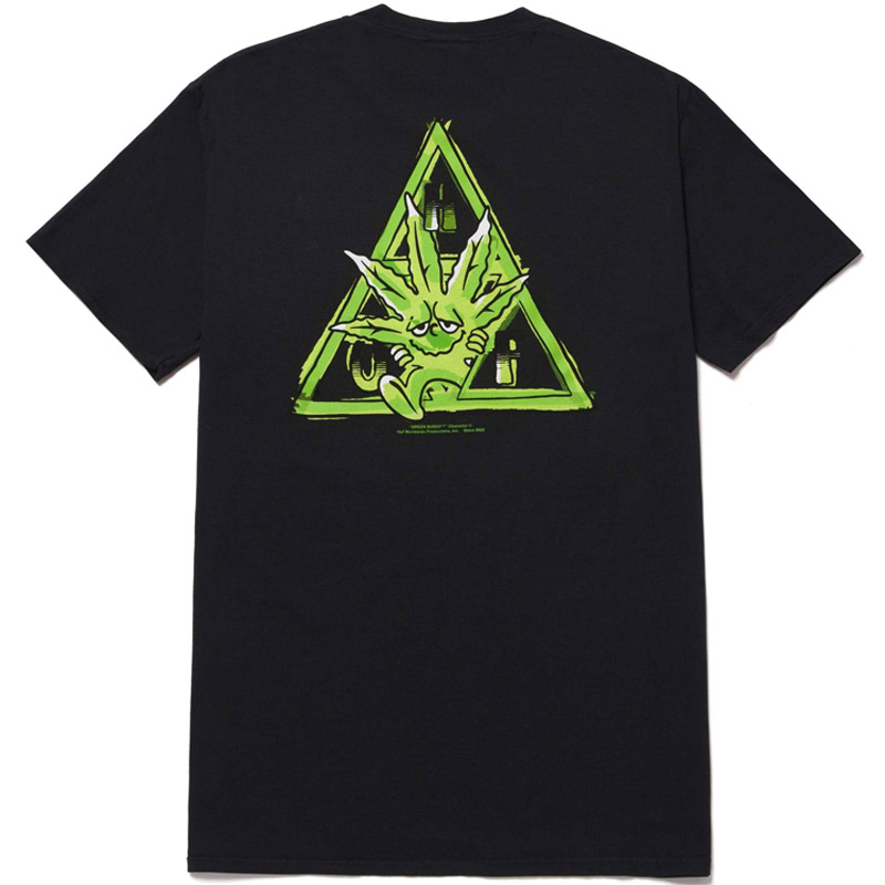 HUF X 420 Green Buddy Tt T-Shirt Black