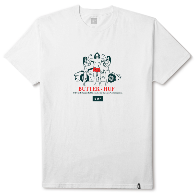HUF X Butter Goods Buf T-shirt White