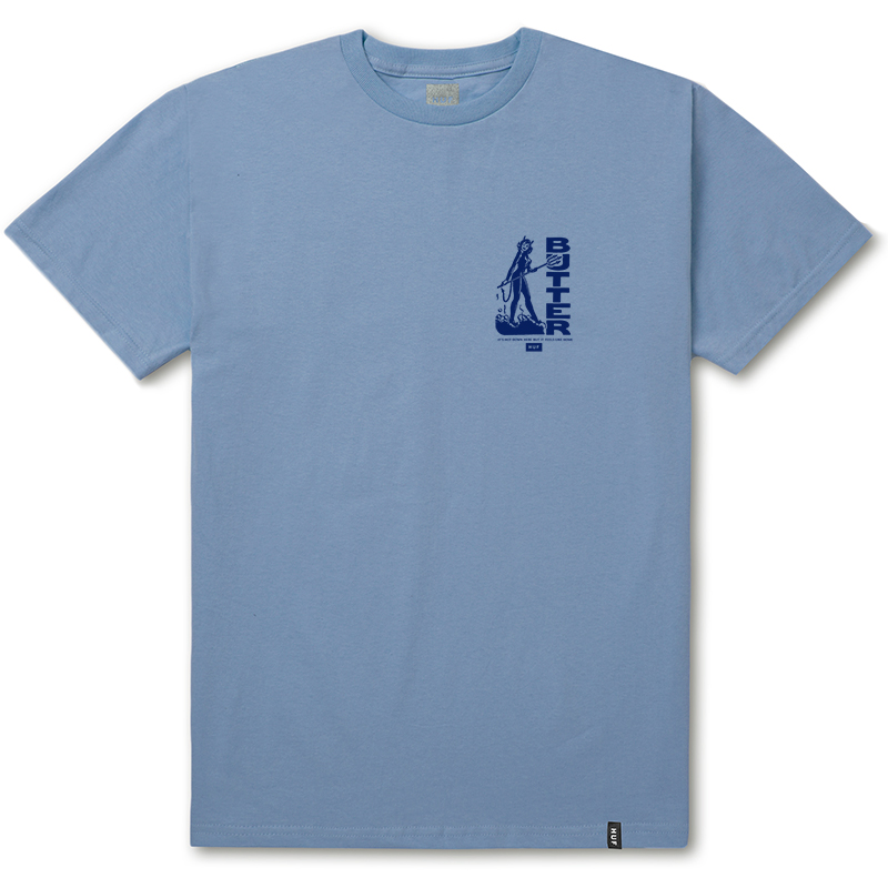 HUF X Butter Goods Devil T-shirt Light Blue