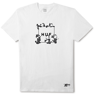 HUF X Felix The Cat Box Logo T-shirt White