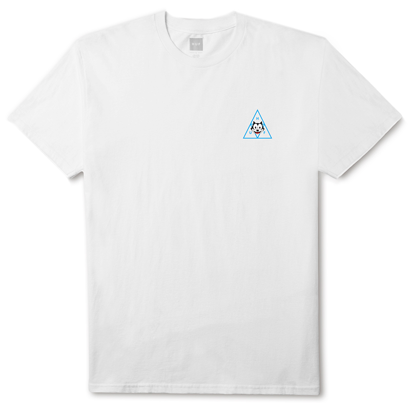 HUF X Felix The Cat Triple Triangle T-shirt White