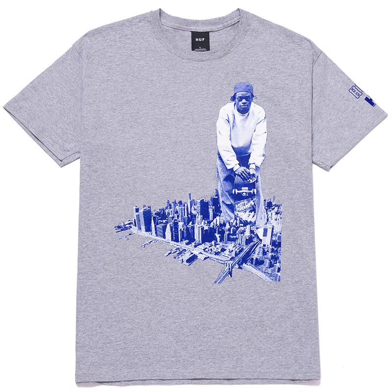 HUF X Harold Hunter 21 T-Shirt Grey Heather