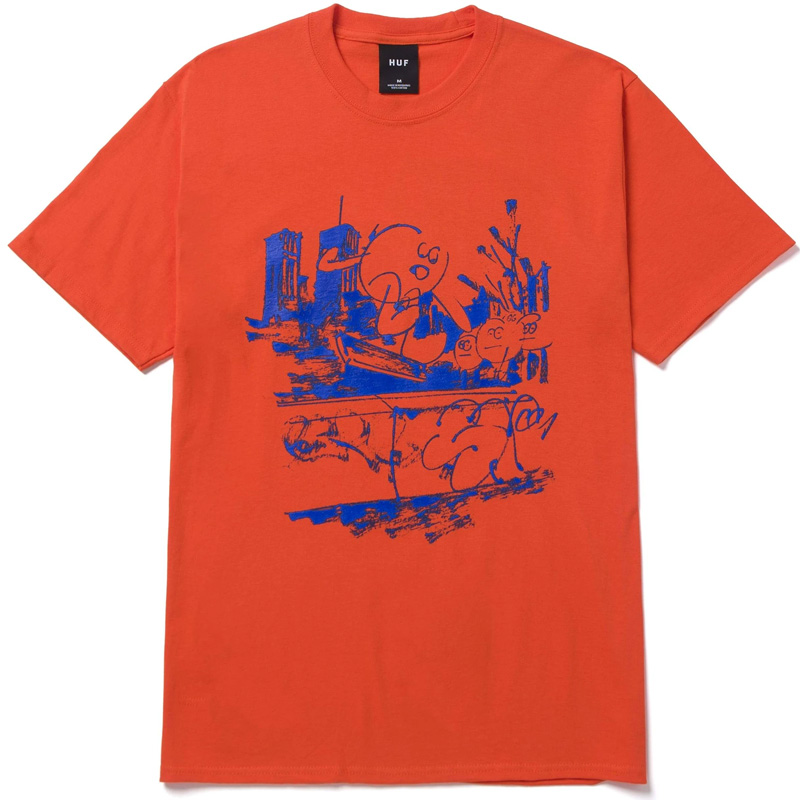 HUF X James Jarvis Banks T-Shirt Orange