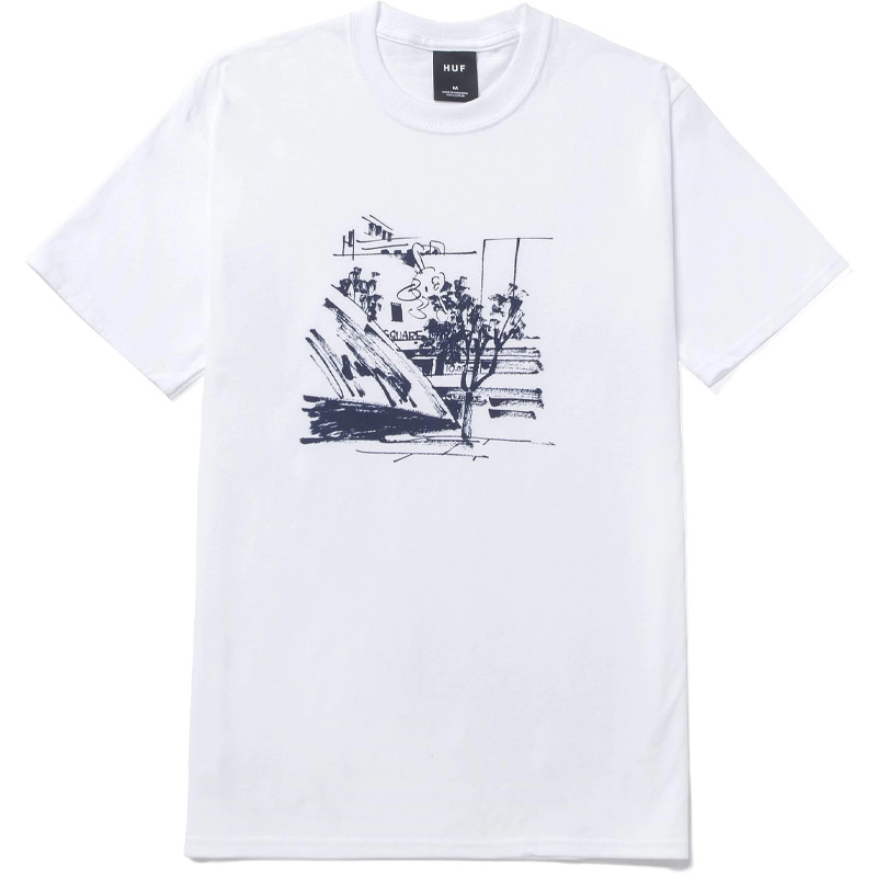 HUF X James Jarvis Up T-Shirt White