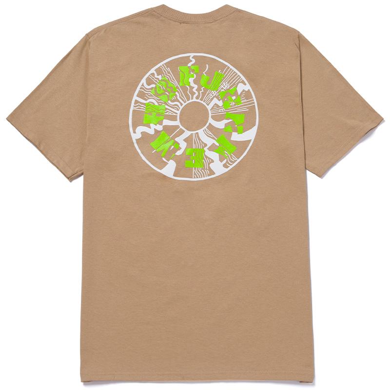 HUF X Jenkem Mag Wormhole T-Shirt Sand