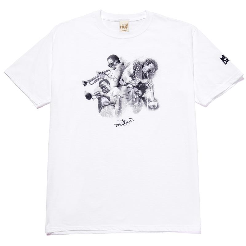 HUF X Miles Davis Directions T-Shirt White