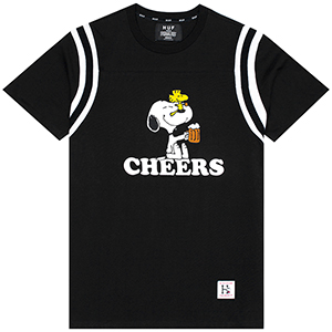 HUF X Peanuts Cheers Football Jersey Black