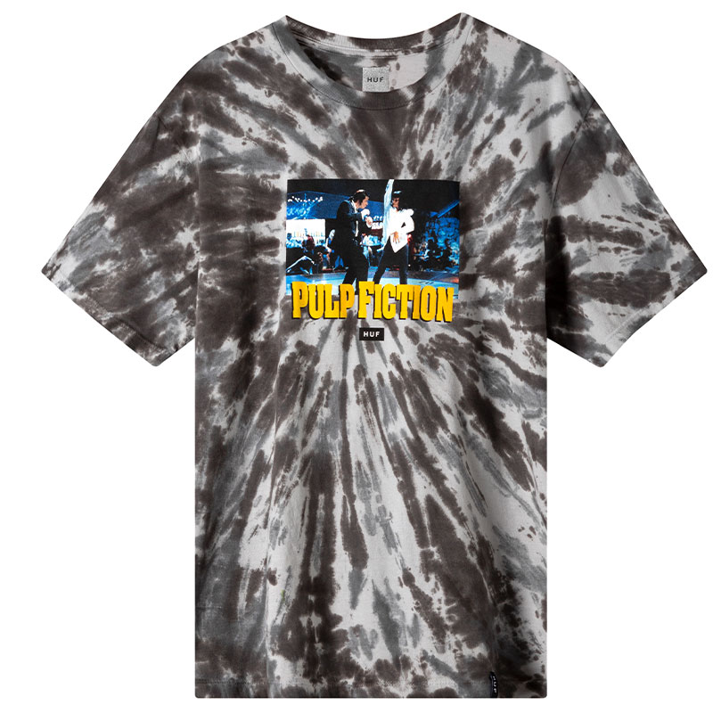 HUF X Pulp Fiction Dance Scene Tie Dye T-Shirt Black