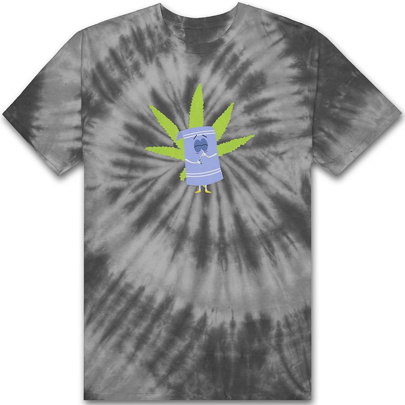 HUF X South Park Towelie Tie Dye T-shirt Black