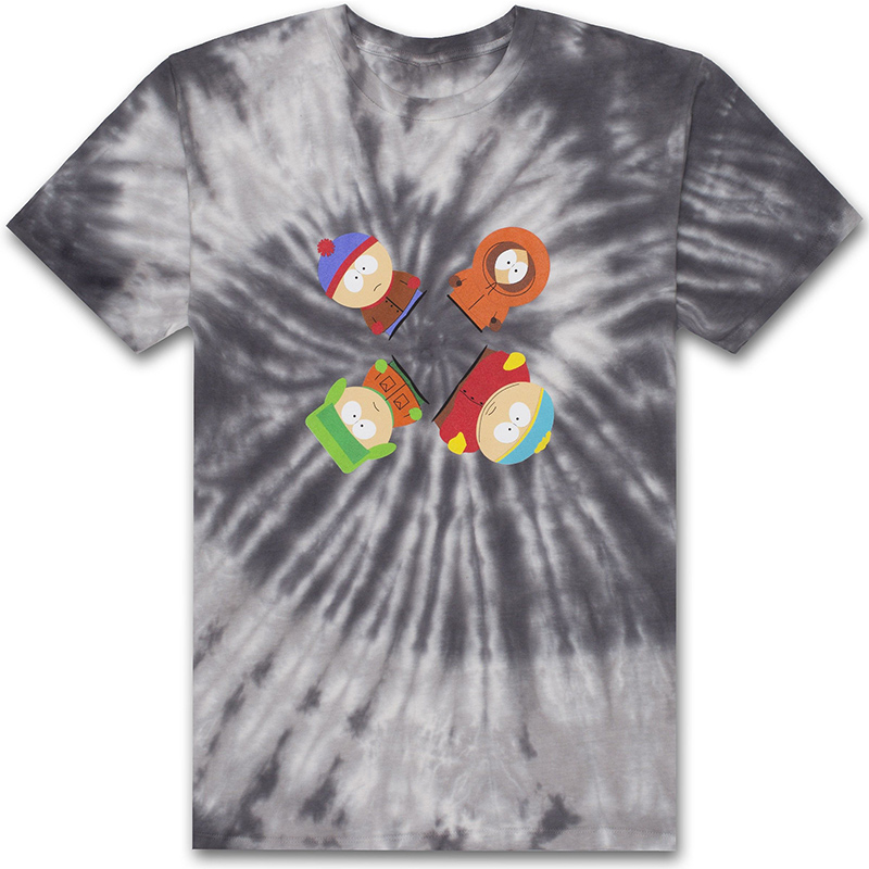 HUF X South Park Trippy Tie Dye T-shirt Black