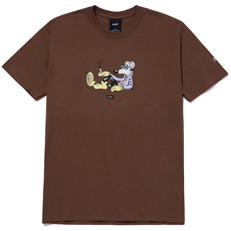 HUF X Steven Harrington Mouse T-Shirt Brown