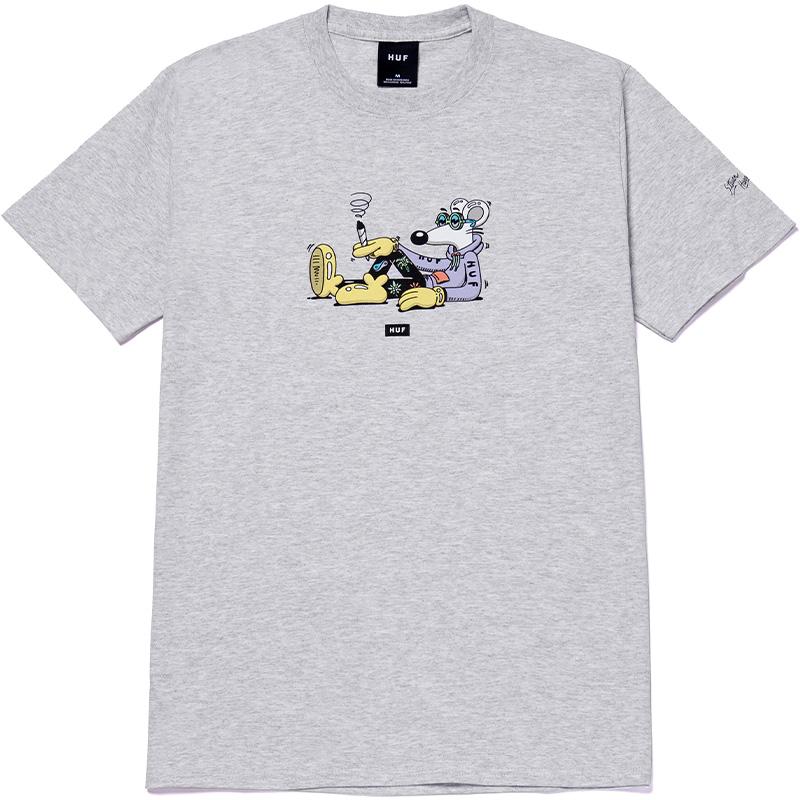 HUF X Steven Harrington Mouse T-Shirt Grey Heather