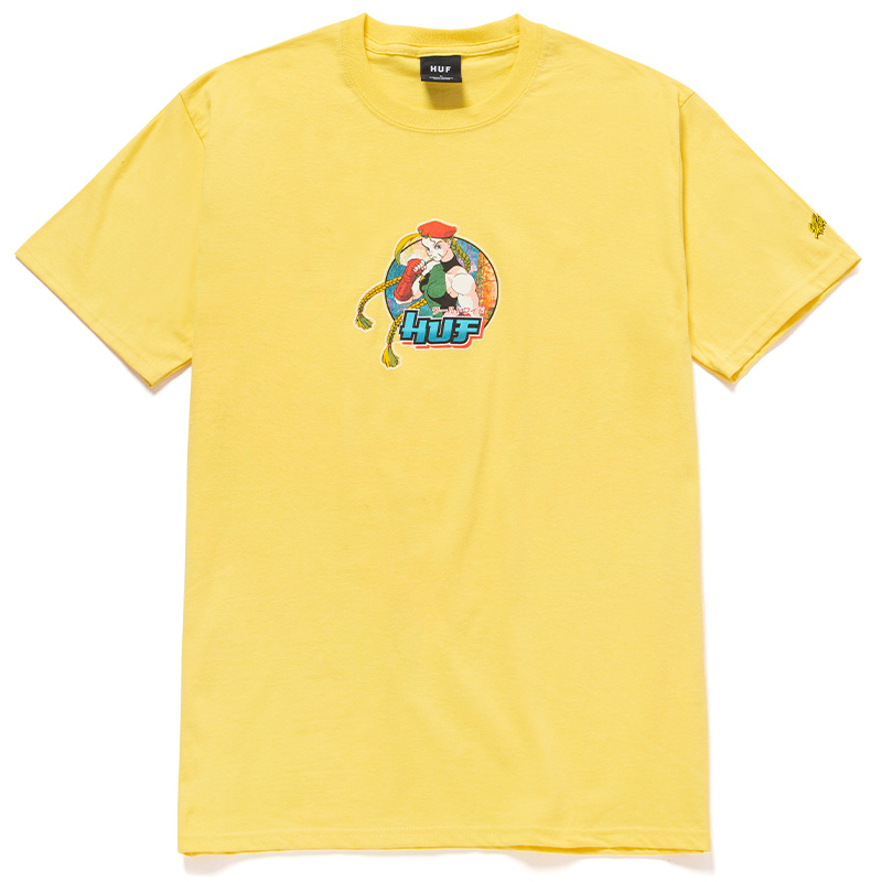 HUF X Streetfighter Cammy T-Shirt Yellow