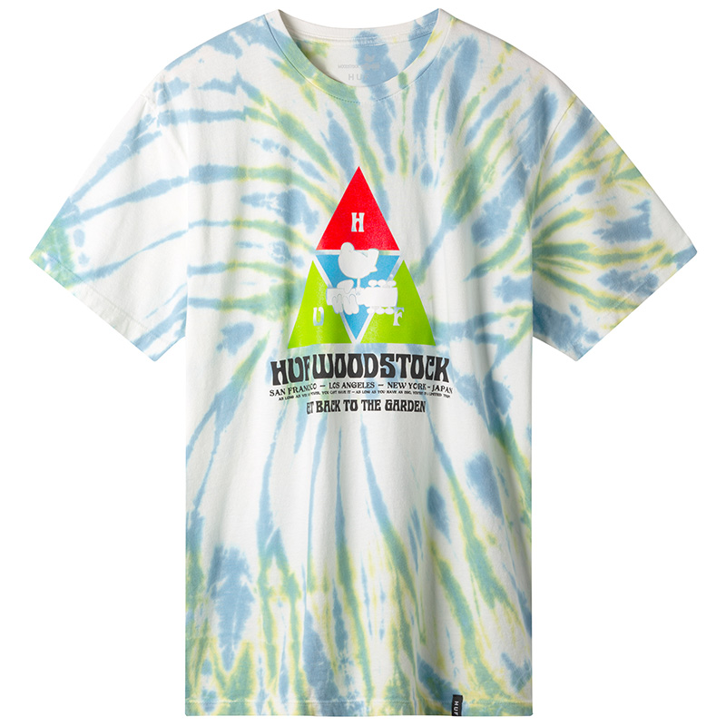 HUF X Woodstock Peaking T-Shirt Blue