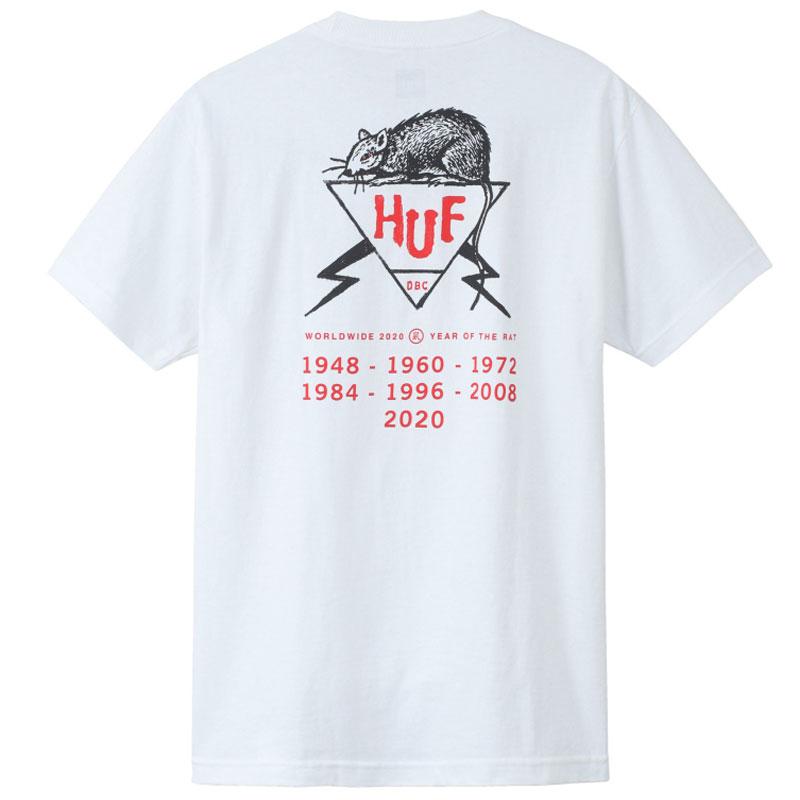 HUF Year Of The Rat Dbc T-Shirt White