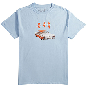 Illegal Civilization Car t-Shirt Blue