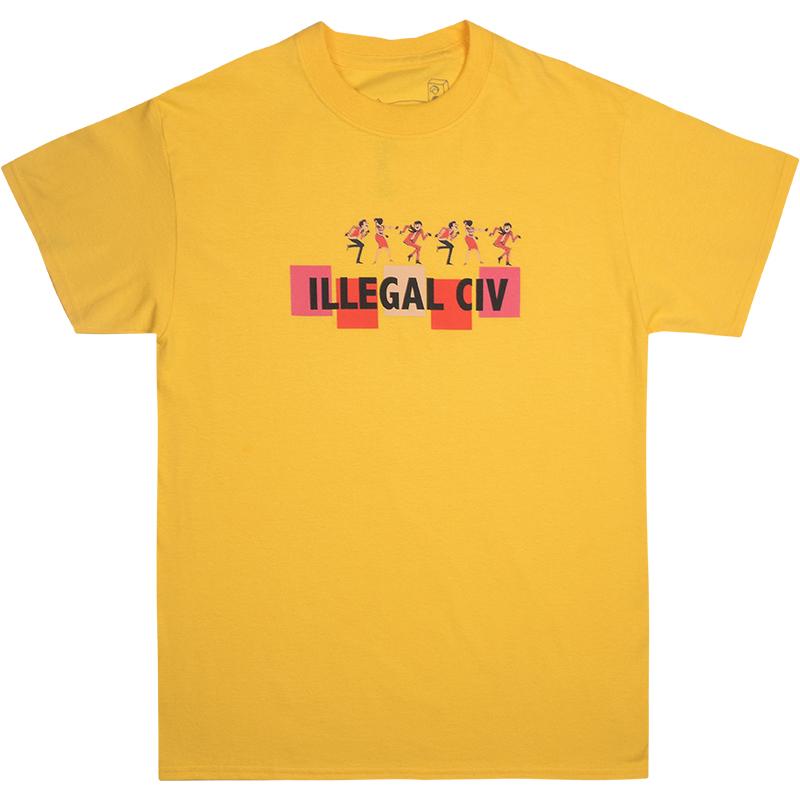 Illegal Civilization Dance T-Shirt Yellow