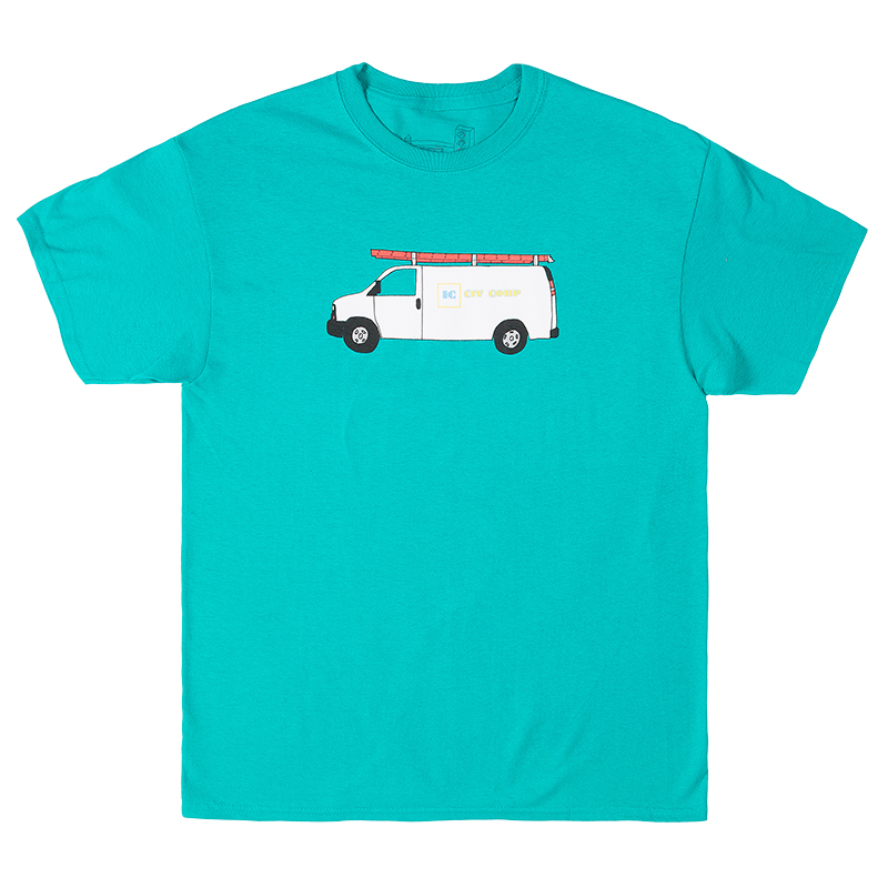Illegal Civilization Van T-Shirt Turquoise