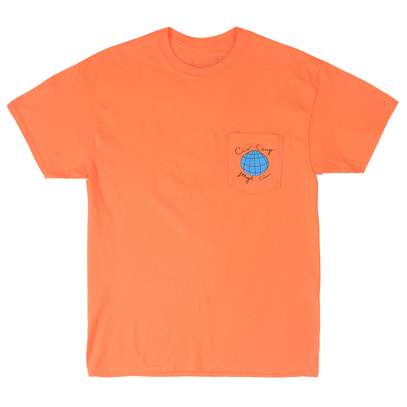Illegal Civilization Worldwide Biz Pocket T-Shirt Orange