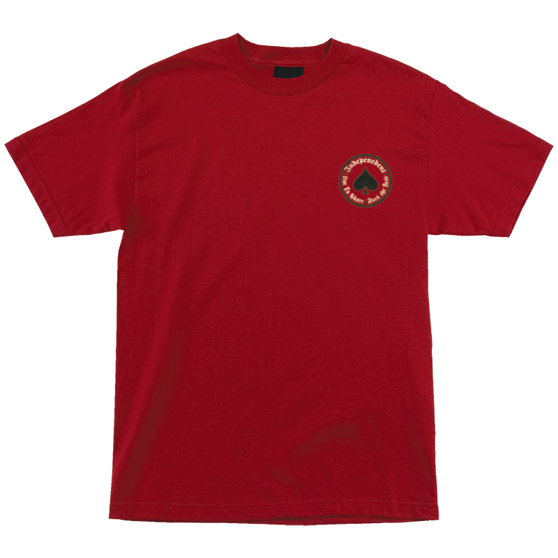 Independent x Thrasher Oath T-Shirt Cardinal Red