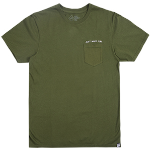 JHF All Caps Pocket T-Shirt Forest Heather