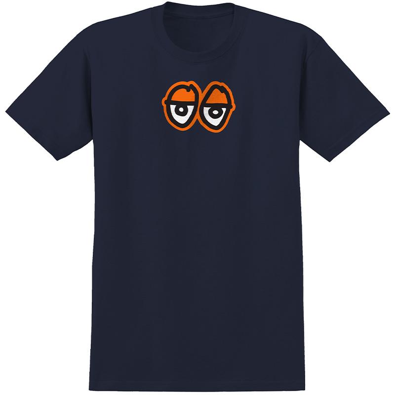 Krooked Eyes Lg T-Shirt Navy /Orange Print