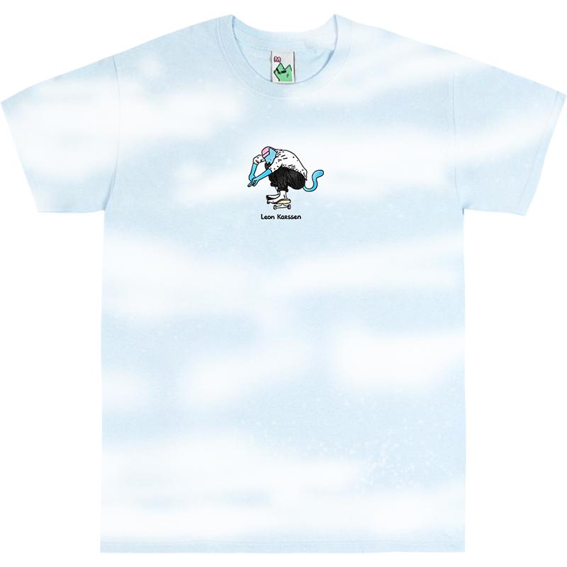 Leon Karssen High Pop T-shirt Light Blue/White Tie-Dye