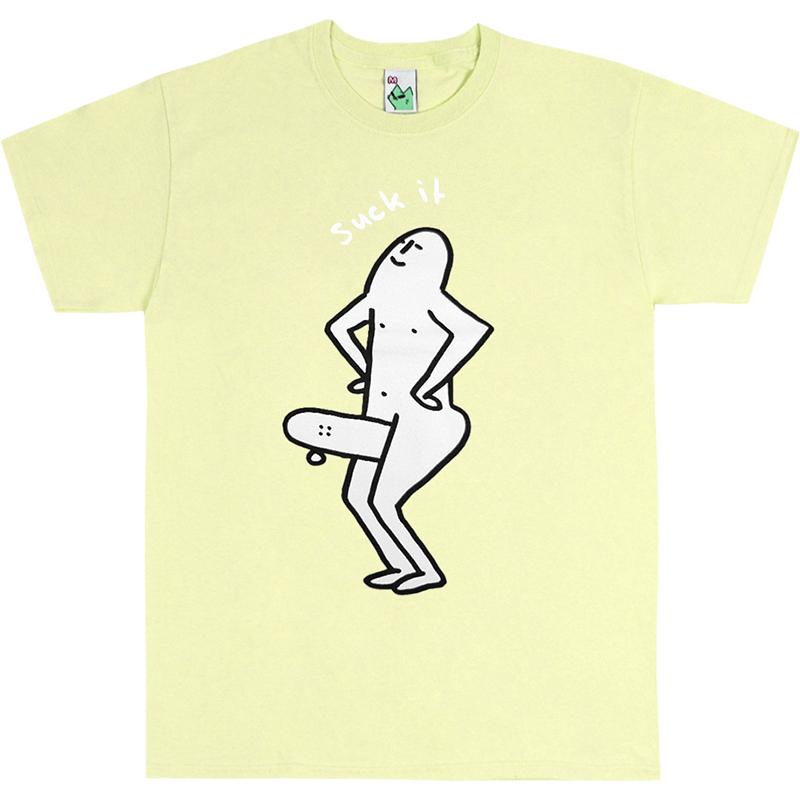 Leon Karssen Suck IT T-shirt Light Yellow