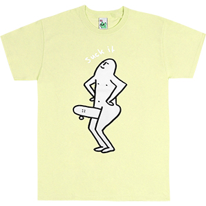 Leon Karssen Suck IT T-shirt Light Yellow
