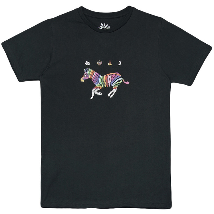 Magenta Zebra T-Shirt Dark Green