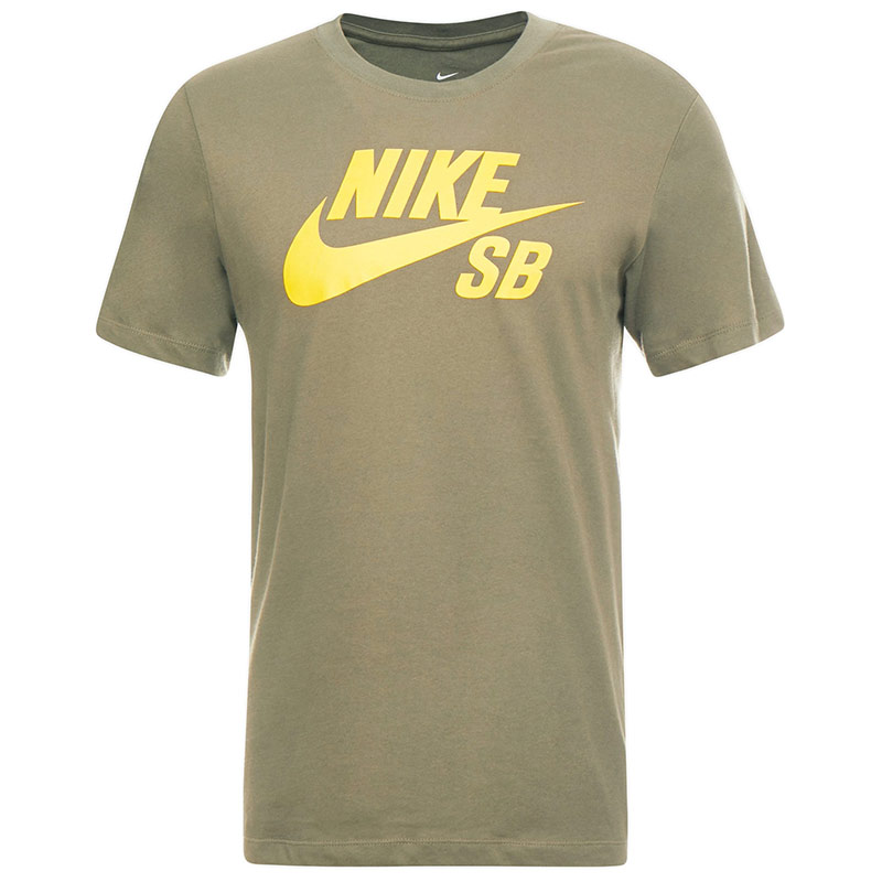 Nike SB Dfct Logo Dry T-Shirt Medium Olive/Dark Sulfur