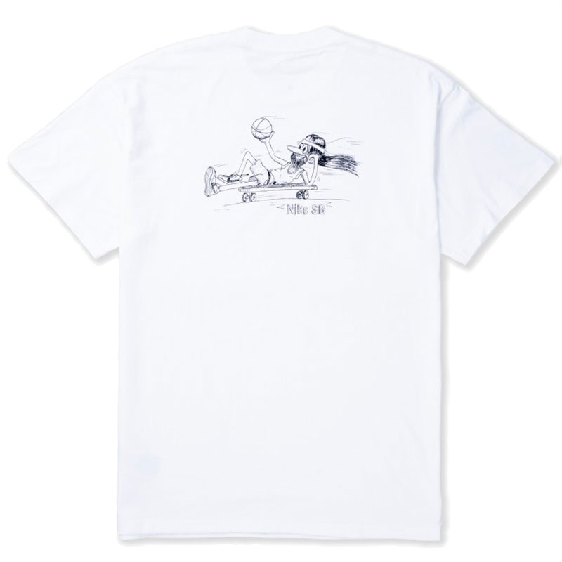 Nike SB Duder T Shirt White/Black