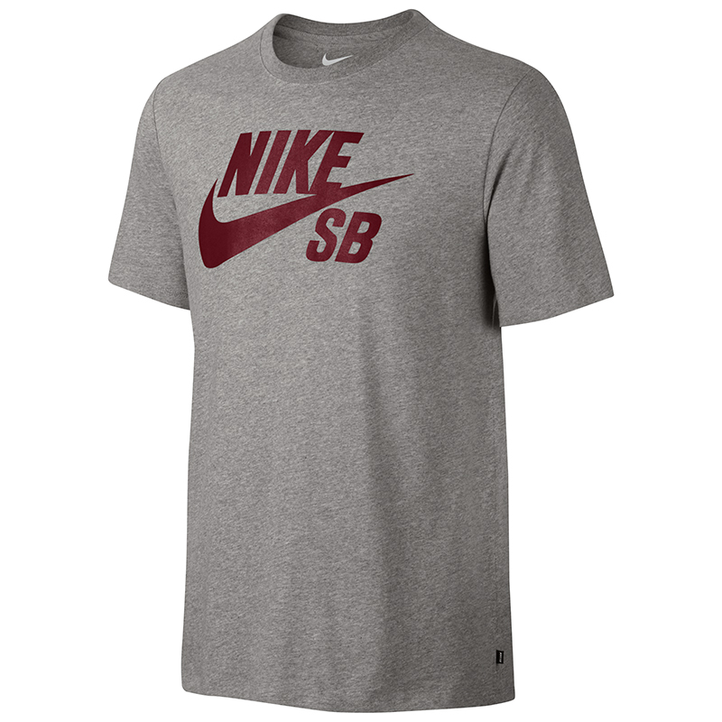 Nike SB Logo T-Shirt Dark Grey Heather/Dark Grey Heather/Team Red