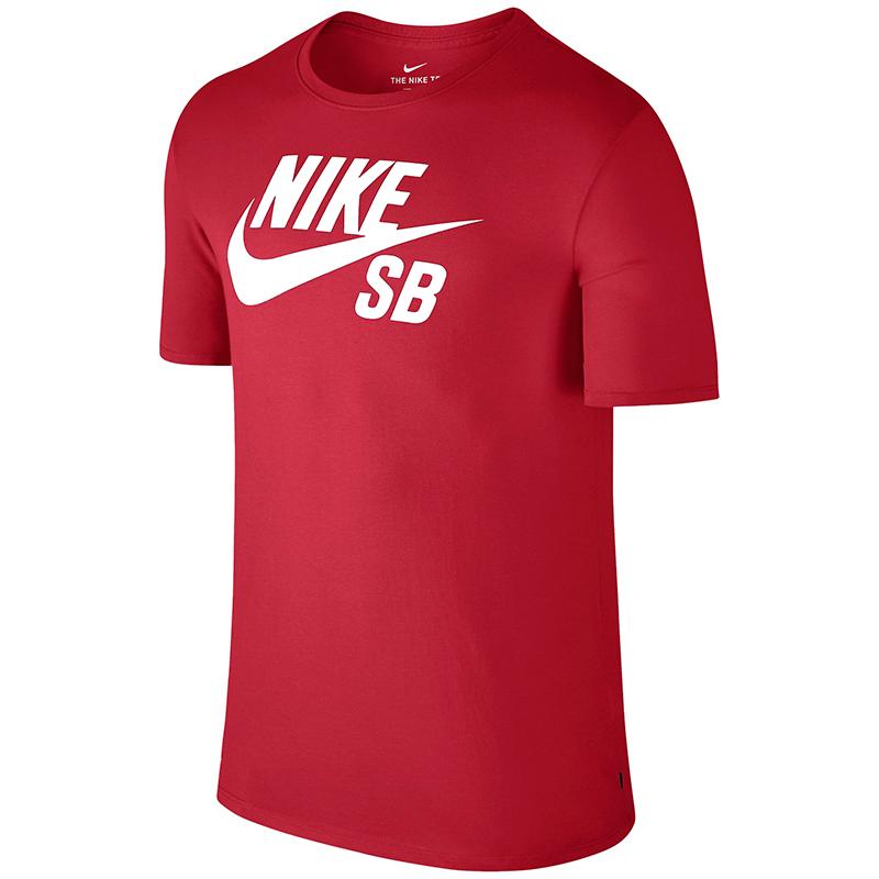 Nike SB Logo T-shirt University Red/White