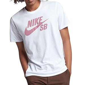 Nike SB Logo T-shirt White/Elemental Pink