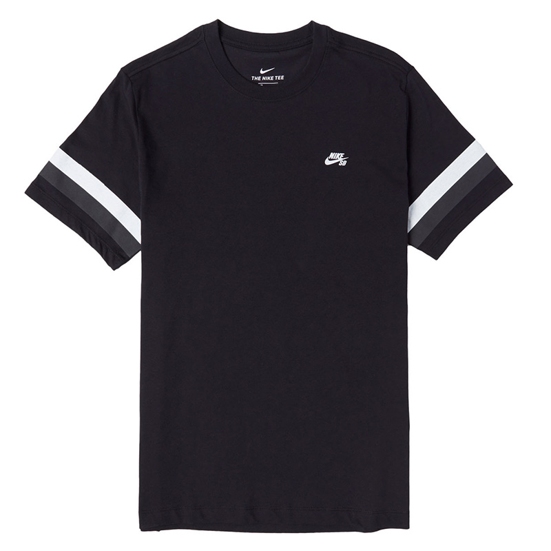 Nike SB Stripe T-Shirt Black/Thunder Grey