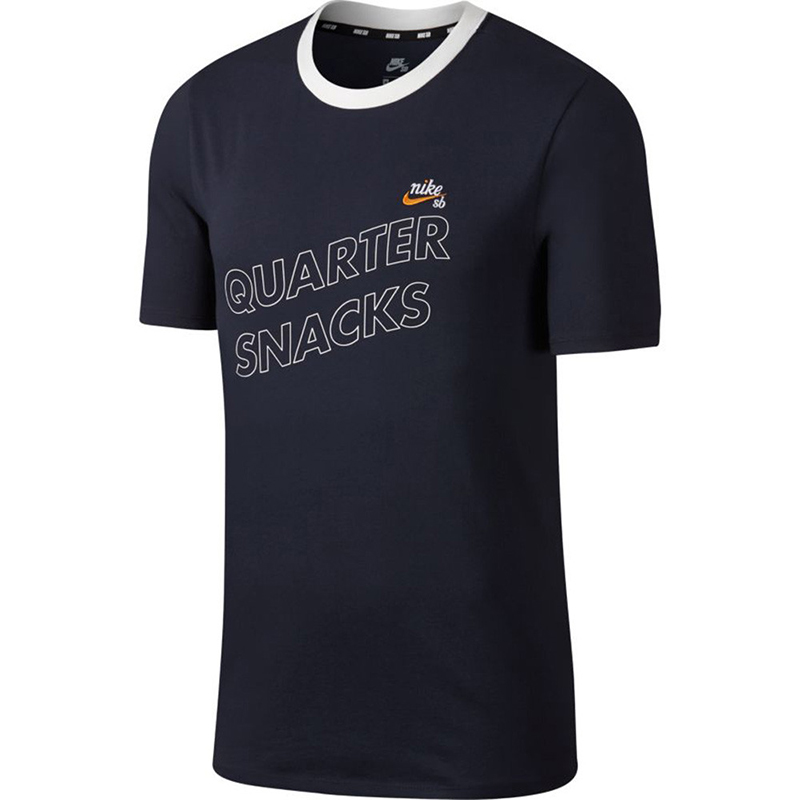 Nike SB X Quartersnacks T-shirt Obsidian/Circuit Orange/White